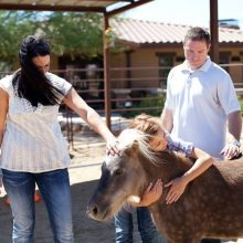 Family Shares Special Moment With Horse - Equine Therapy - Rosewood Centers For Eating Disorders