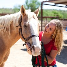Happy Horse With Smiling Girl - Equine Therapy - Rosewood Centers For Eating Disorders