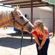 Playful Moment Between Girl And Horse - Equine Therapy - Rosewood Centers For Eating Disorders