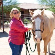 Smiling Woman With Horse - Equine Therapy - Rosewood Centers For Eating Disorders