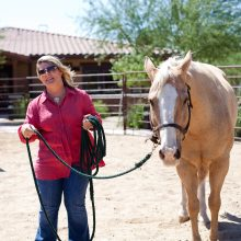Woman Leading Horse - Equine Therapy - Rosewood Centers For Eating Disorders