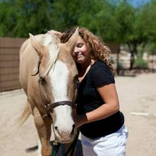 Young Girl Makes Connection In Equine Therapy Session - Rosewood Centers For Eating Disorders