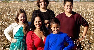 Dena Larsen-Gazely and Family