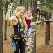 Rosewood Centers for Eating Disorders 2015 Alumni Reunion Girls Walking on Obstacle Course